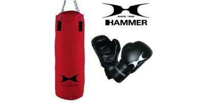 Hammer 92074 con guantes de boxeo